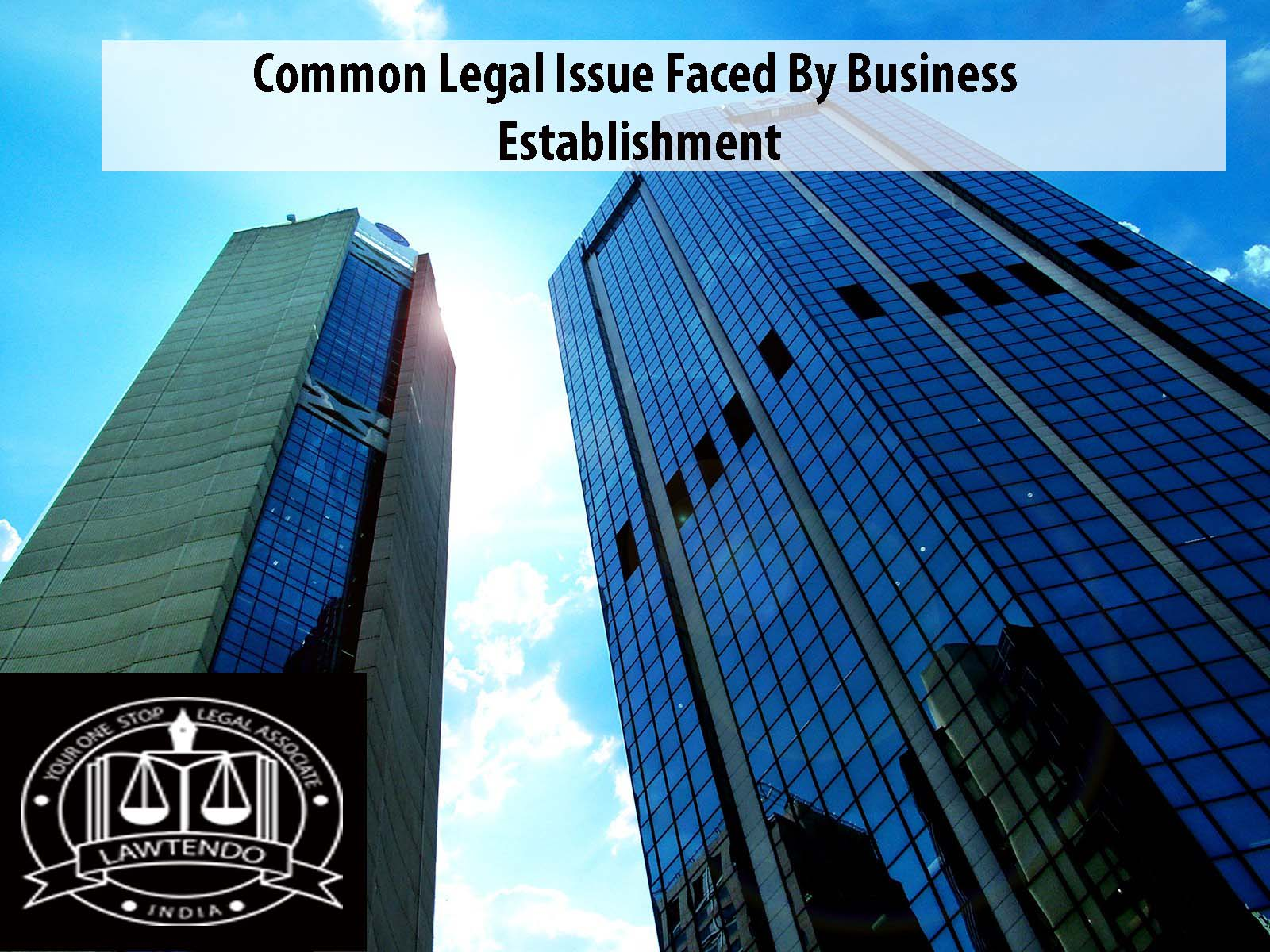 Common Legal Issue Faced By Business Establishment