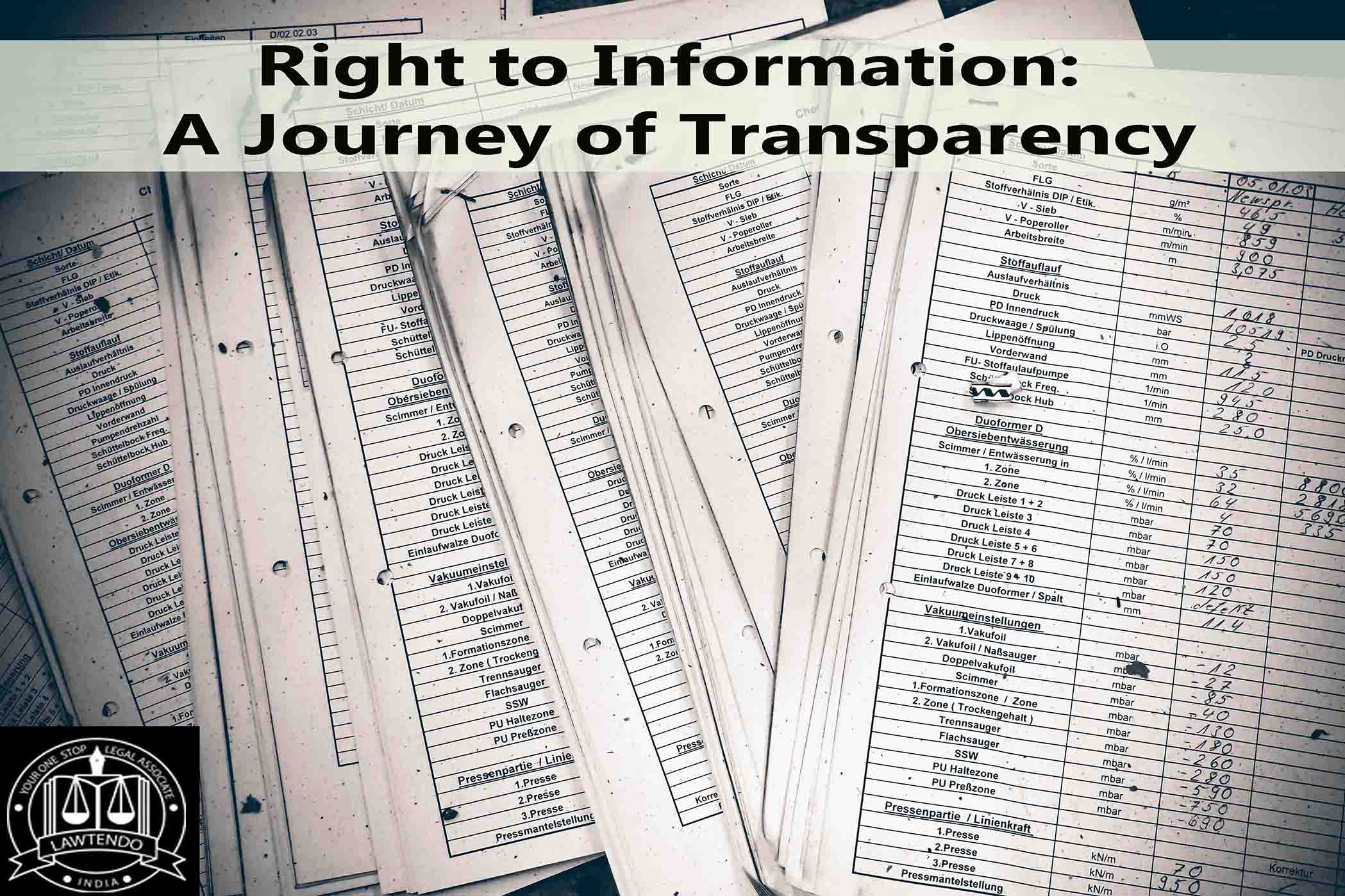 Right to Information: A Journey of Transparency